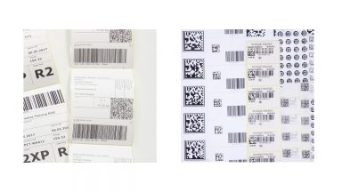 Barcodeetiketten als QR-Code Etiketten und Datamatrixcodes