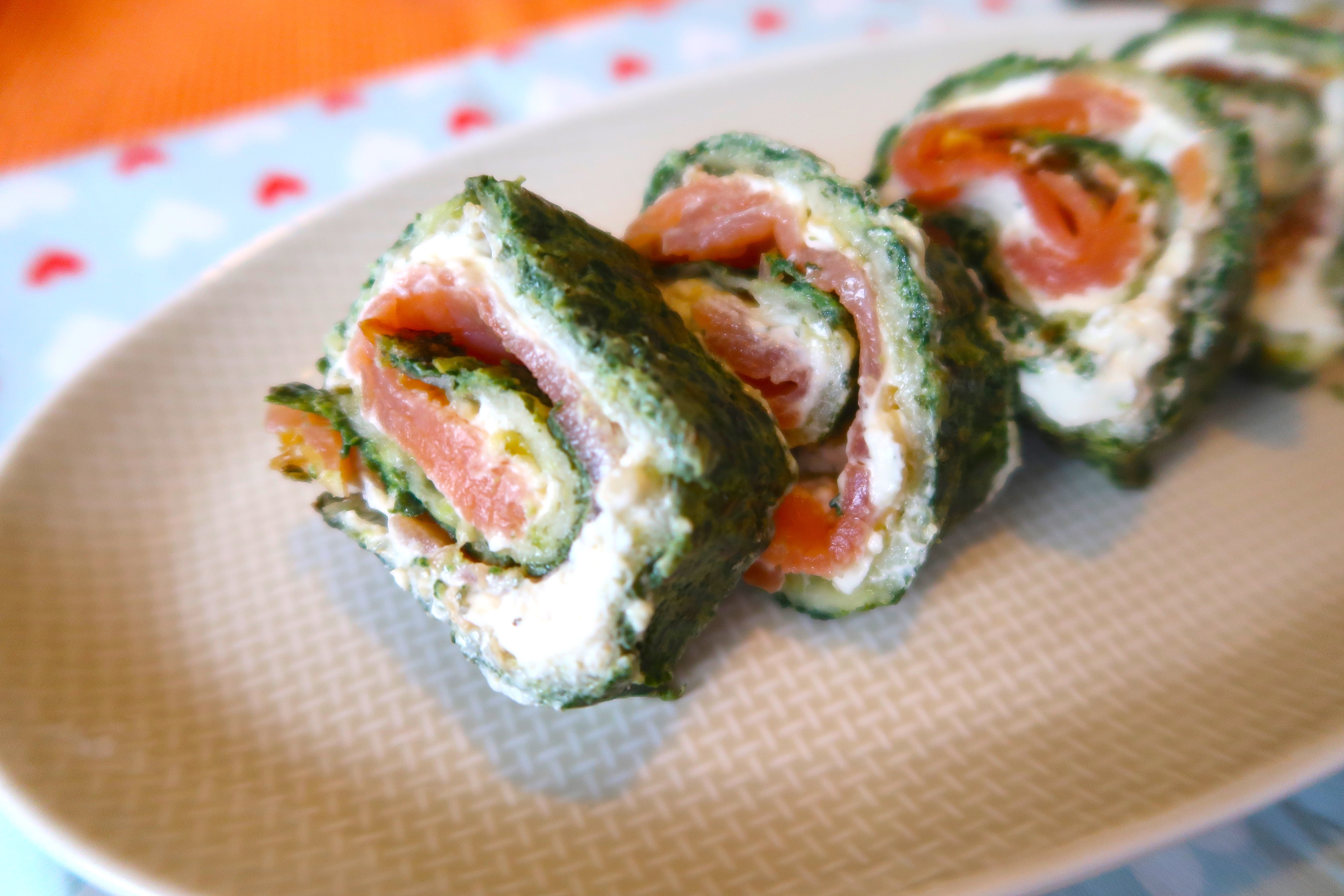 Fingerfood deluxe: Spinat-Lachs-Rolle