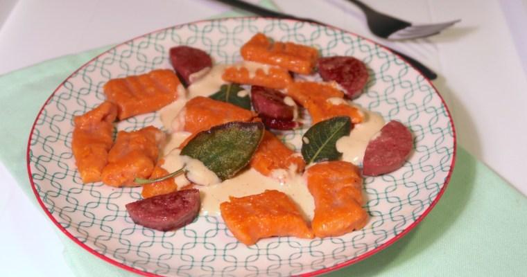 Tomaten-Gnocchi in Sucuk-Sahne