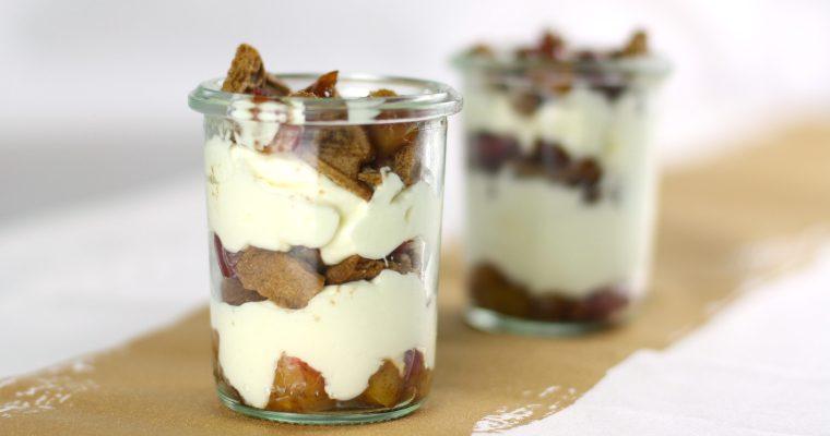 Spekulatius-Bratapfel-Dessert mit Mascarpone-Creme