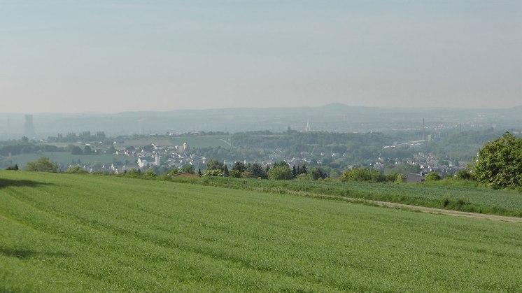 Rheintal mit Dunst