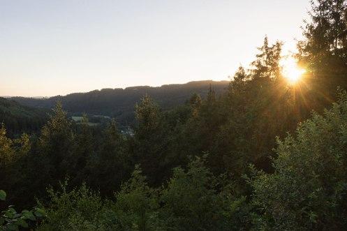 Sonnenuntergang auf dem Silberberg