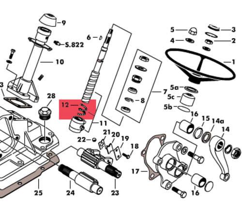 Lenkung, Lenkgetriebe & Zubehör, Schlepperteile