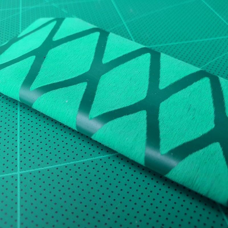 X Schrumpfschlauch Angelrute grün