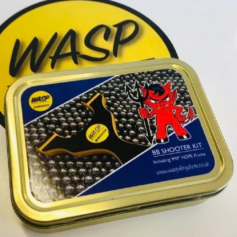 Wasp IMP BB Shooting Kit Black and White in Metalldose