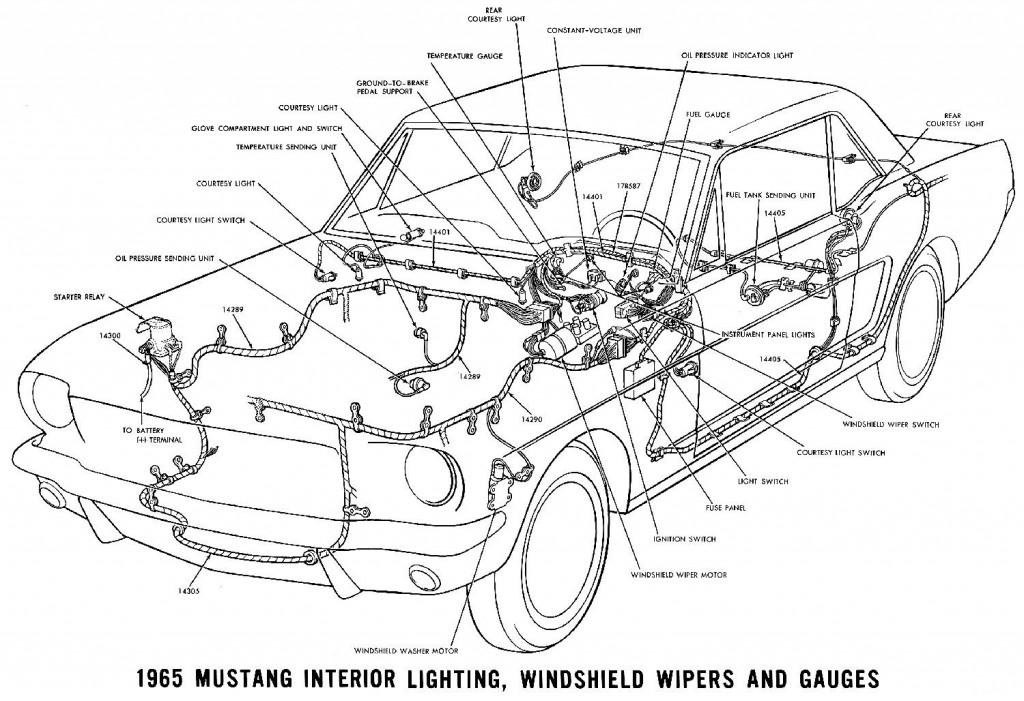 1965-Mustang-Instrumente-Innenbeleuchtung-Scheibenwischer