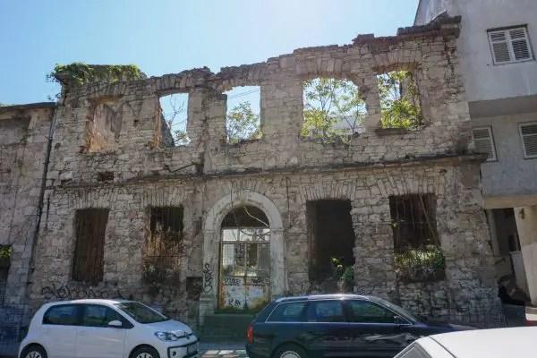 Damaged Buildings in Mostar Bosnia Herzegovina
