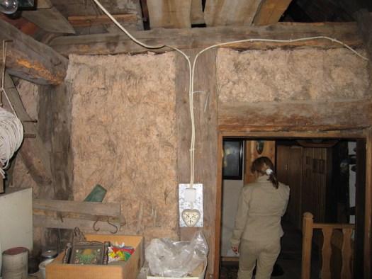 Zustand bei Kauf 2009, Dachboden über dem Stall