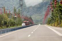 Charakteristische regionale Autobahn