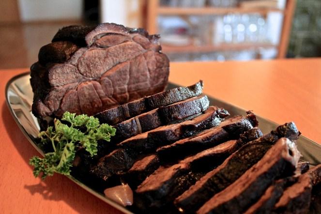 Das fertige Fleisch...sieht doch herrlich aus!