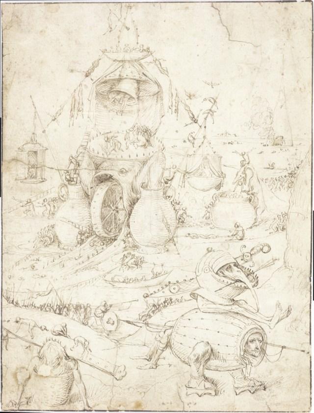 Neu entdeckt und bald wieder gut versteckt in einer Privatsammlung - Zeichnung von Hieronymus Bosch