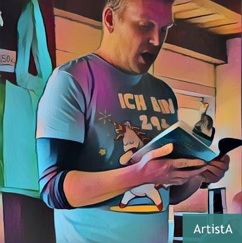 Alexander Ruth hielt mit dem Fantasy-Umweltabenteuer eine fantastische Lesung auf Helgoland.