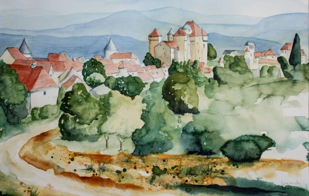 Zeichnen und Aquarellieren an der Dordogne, 1. – 8. Juli 2017