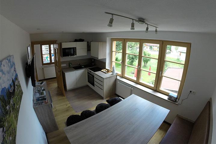 ferienwohnung privatzimmer ebbs hoamatl küche