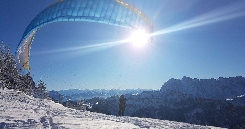 paragliding tirol - gleitschirmflug in kössen