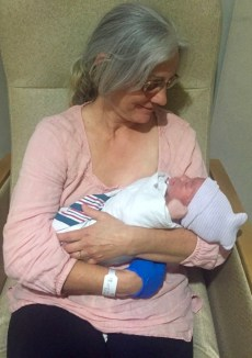 Grammy with her grandson.