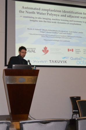 Giving a presentation at the Arctic Change 2014 conference, Ottawa, CAN. Credit: Eric Rehm