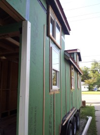 Furring strips allow air flow behind the siding.