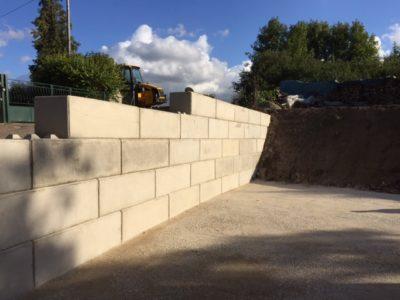 Mur de soutènement Béton Block