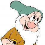 Digital Rendering of Bashful by Steven Walker using Photoshop and Illustrator. Character copyright Disney.