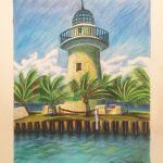 Colored Pencil Rendering of Lighthouse by Steven Walker.