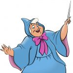Digital Rendering of Fairy Godmother by Steven Walker using Photoshop and Illustrator. Character copyright Disney.
