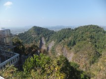 Krabi The Tiger Cave Temple - Viewpoint - Backview