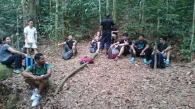 Gunung Lambak 1 day trip hike with Singapore Trekking Group - Resting the Big Tree in Gunung Lambak