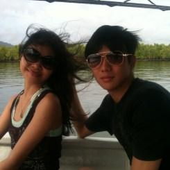 Me & Jeff enjoying the Mangrove Tour in Langkawi