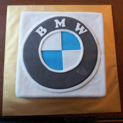 Birthday Boy 22nd BMW Birthday Fondant Cake