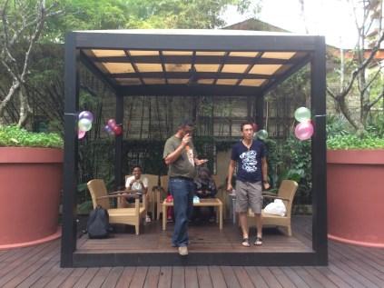 Resorts World Festive Hotel Cabana awaiting Birthday Girl