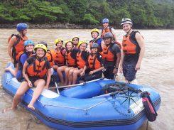 Padas Water Rafting Taking a break group photo 2 4.11.2014
