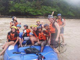 Padas Water Rafting Taking a break group photo 4 4.11.2014