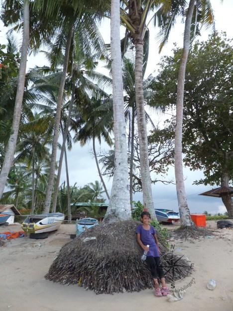 Friendly Local Girl at Kinarut Beach