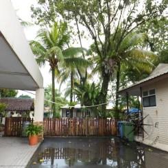 Langkah Syabas Beach Resort in Kinarut Front Porch