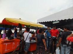 Kota Kinabalu market selling fresh fish