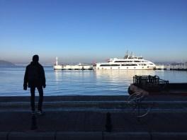 Explore Canakkale, Turkey - Canakkale Boat Passing By Dardanelles Sea