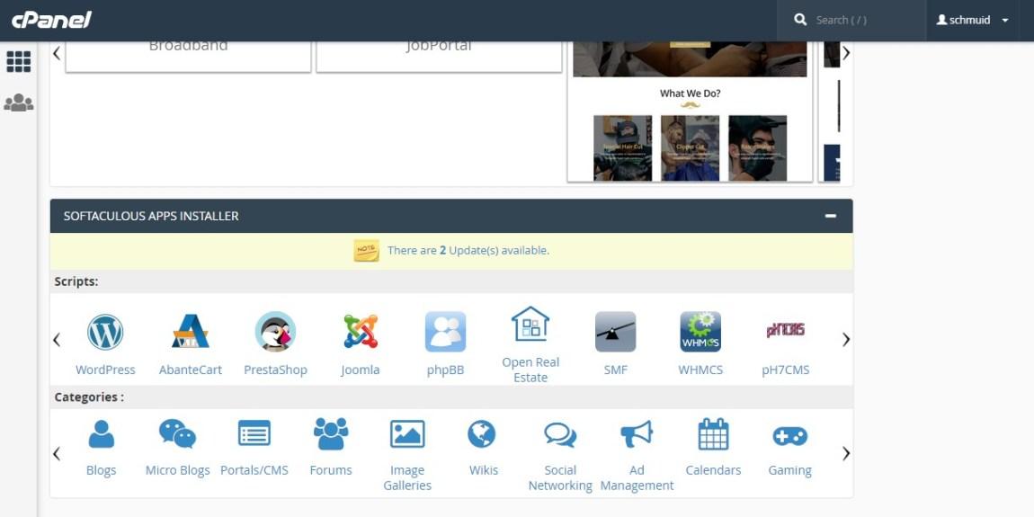 cpanel hosting Cara Membuat Web Sekolah Dengan Wordpress