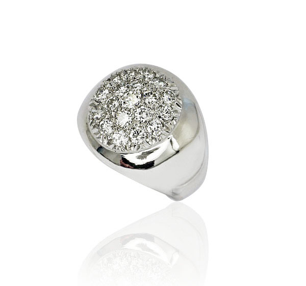 DiamantRing mit 19 Diamanten 0847ct 750 Weissgold  Schmuck