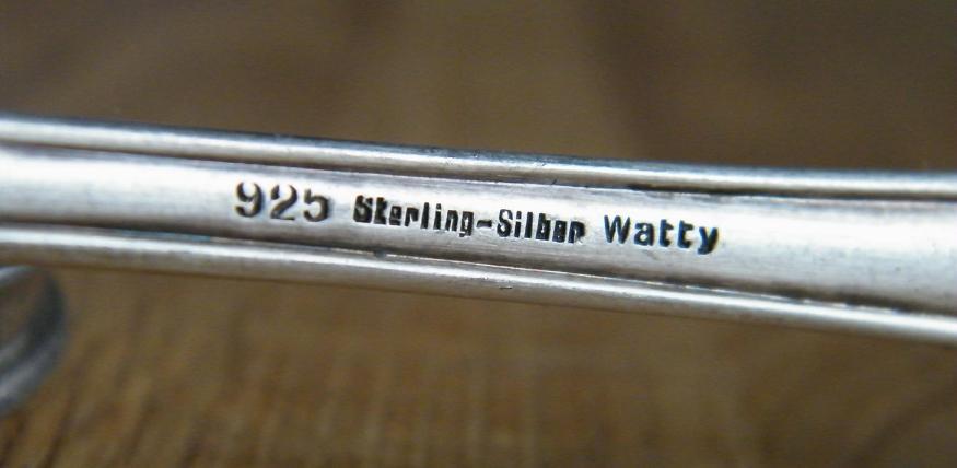 Punze Stempel Prgung bei Silber Besteck und Geschirr