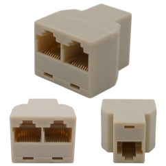 Cat5 Buchse Diagram Of Throat And Esophagus Rj45 Y Adapter Splitter Netzwerk Ethernet Cat6