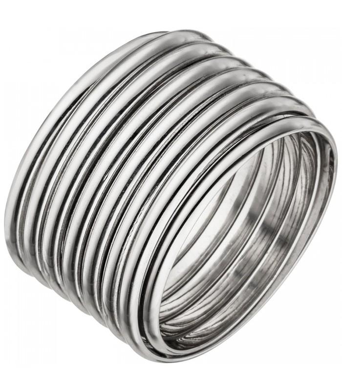 Damen Ring breit 925 Sterling  51070  Schmuck  Uhren