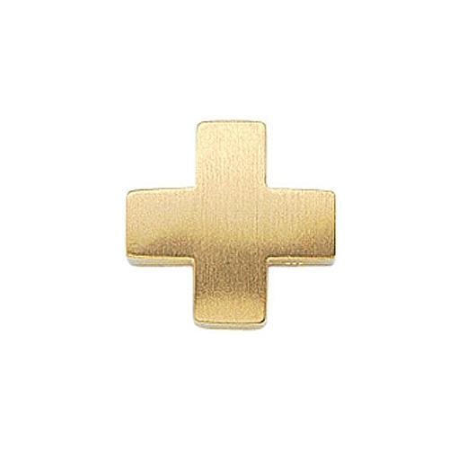 S Kreuz Anhnger MATT Gleiter aus 585 Gold integrierte se