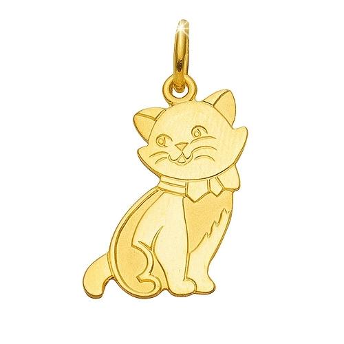 Katze Anhnger Gold 333 Katzen Schmuck jetzt online kaufen