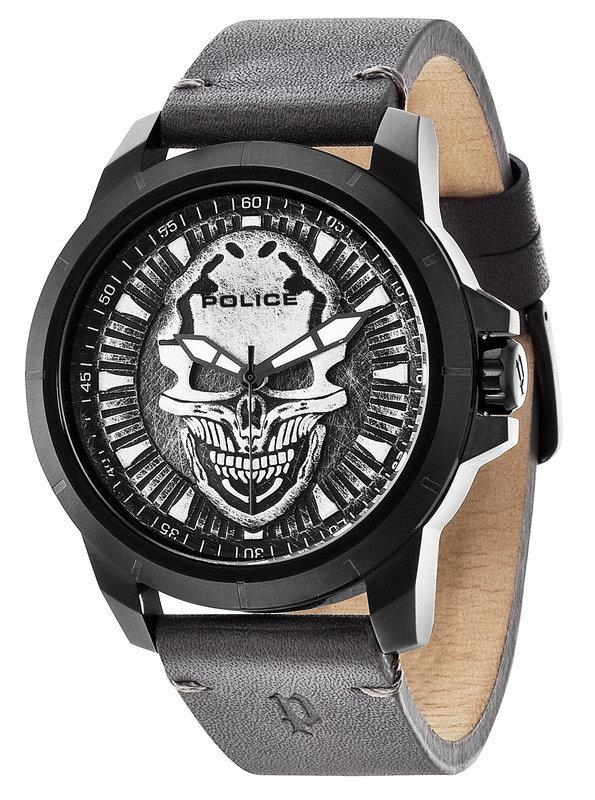 Police Herrenuhr Armbanduhr SKULL schwarz Police Uhr