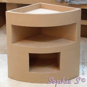 meuble d angle meuble de coin en carton