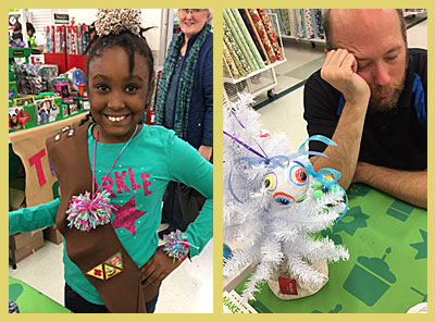 Making pom poms and ornaments