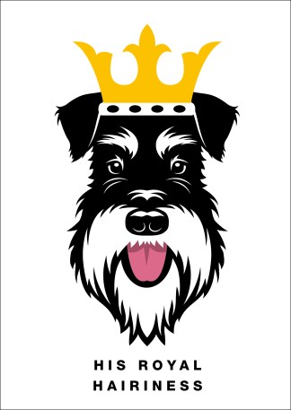 poster his royal hairiness silver and black