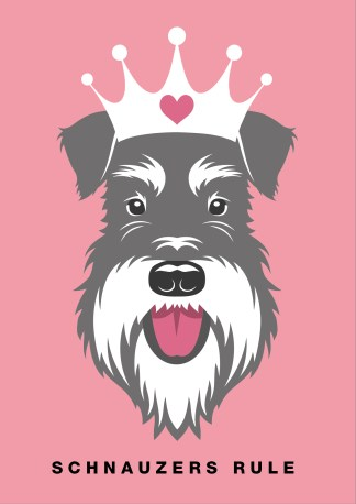 Schnauzers rule poster salt and pepper