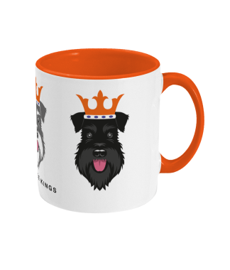Christmas mug with All three schnauzer kings - right